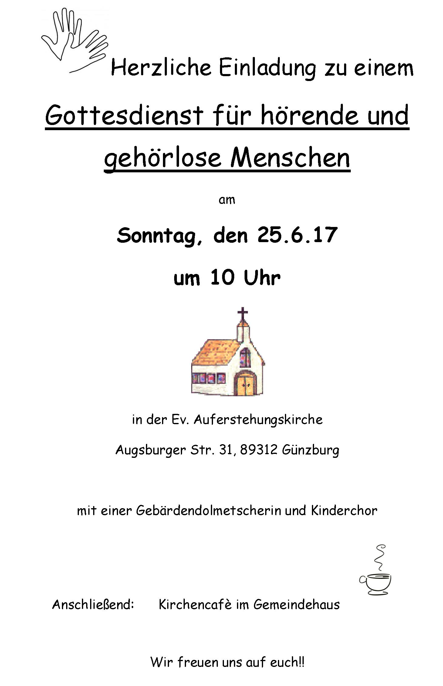 gehörlosenverein günzburg / neu-ulm e.v. - news, Einladung